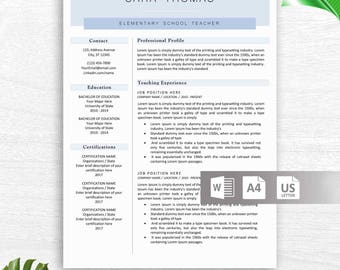Instant Download Resume Template Word, Professional Resume Free Resume  Icons, Resume Design Cover Letter