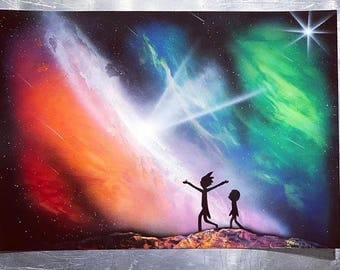 RICK AND MORTY - Spray Paint Art