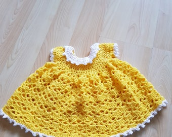 3-6 months yellow baby dress