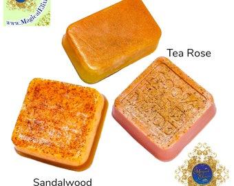 3 pc. Set, Handmade Soaps, Soaps, Natural Soap, Botanical Soap, Bar Soap