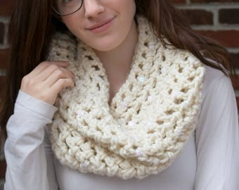 "Embellished Cowl: ""Snow Queen"""