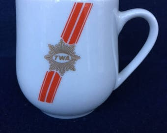 Vintage TWA Airlines First Class Demitasse/Coffee Mug - by Rego