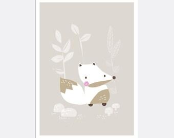Prints for kids / posters for kids / nursery art / nursery wall art / nursery prints / nursery decor / kids room decor / fox
