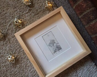 Listen | Framed Original Acrylic Resist Etching