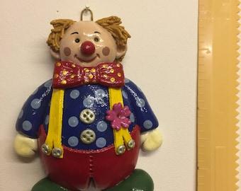 Decorative salt dough cheeky clown