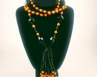 Bead Necklace  - Art Deco Flapper