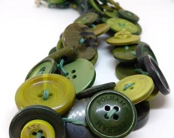 Buttons - series foam clover necklace