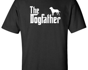 The Dogfather labrador Dog Logo Graphic TShirt