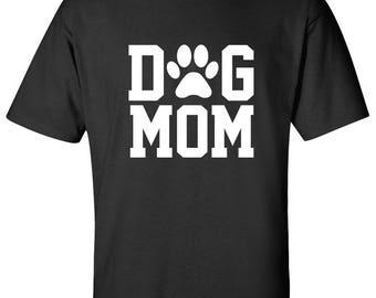 Dog mom 100% Cotton Graphic Logo Tshirt