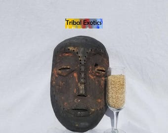 TRIBAL EXOTICS : PREMIUM Authentic fine tribal African Art - Tanzania Sukuma Basukuma Zukuma Wood Mask Figure Sculpture Statue