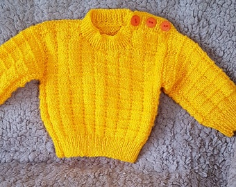 Baby boy's hand knitted jumper