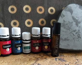 FLU BOMB! Young Living Essential Oil Roll On (Roller) in Fractionated Coconut Oil