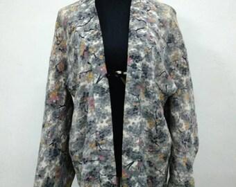 Silk kimono jacket | Etsy