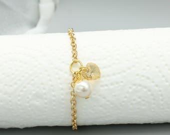 Damenarmband Edelstahl mit Swarovski Crystals