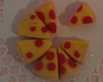 Slice of Pepperoni Pizza Pie