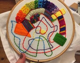 Medium Hoop - Abstract 1