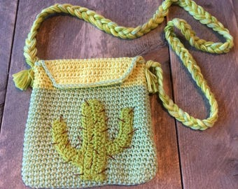 Hand bag with Cactus