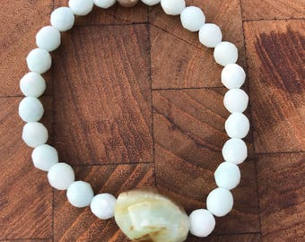 Amazonite and Opal Bracelet