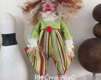 Chamille the clown - OOAK art doll