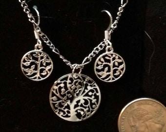 Elven Tree of Life Jewelry Set