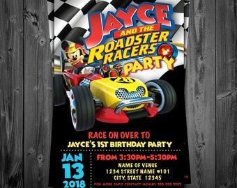 Mickey Roadster Racers Custom Invite