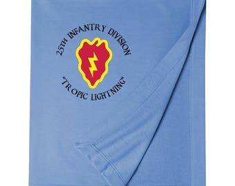 "25th Infantry Division ""Tropic Lightning"" Embroidered Blanket-3605"