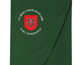 7th Special Forces Group Embroidered Blanket-3707