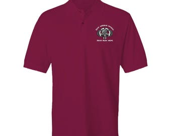 82nd Airborne Division Embroidered Moisture Wick Polo Shirt -1763