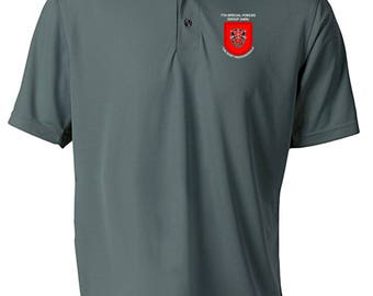 7th Special Forces Group Embroidered Moisture Wick Polo Shirt -1966