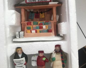 Department 56 - Heritage Village Collection - City News Stand - Handpainted Porcelain Figurines