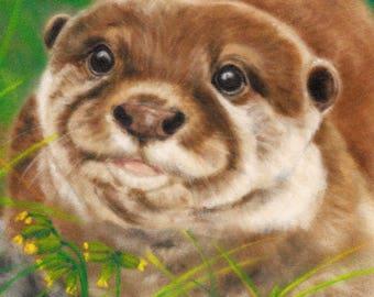 Otter Picture - Otter Wall Art - British Wildlife - Wildlife Artwork - Otter Print - Animal Picture - Otter Artwork - Animal Print