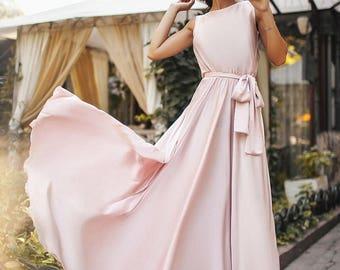 Long Silk Evening Dress