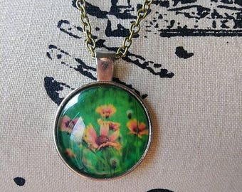 Flower Pendent Necklace- Gift for her-Valentine's Day Gift-Gift for Daughter