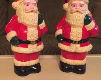 Vintage Santa Clauses - Blow Mold Plastic