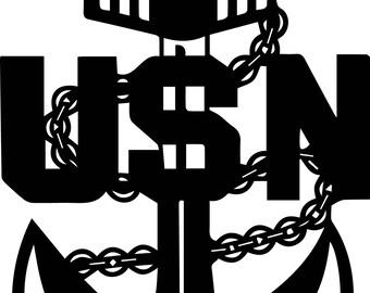 Navy Senior Chief Anchor Decal