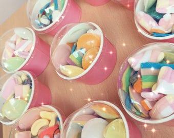Pink sweet 'surprise' tubs