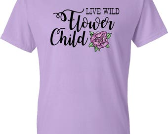 Live Wild Flower Child Tee