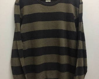 Vintage Agnes B Striped Long Sleeve Tee Tshirt