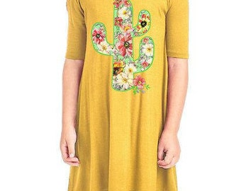 Yellow cactus dress