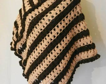 Striped Wool Poncho