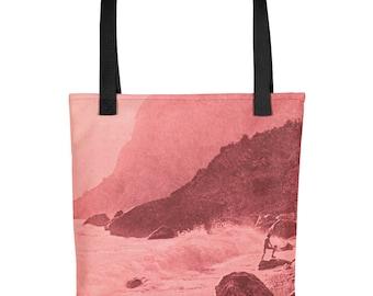 Vintage Coastal Scene - Tote Bag