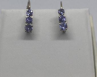14 kt Gold & Tanzanite Earrings