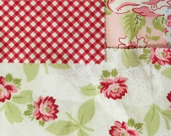 Cute floral fabric collage pattern digital (PDF) download
