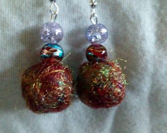 Hand felted earrings