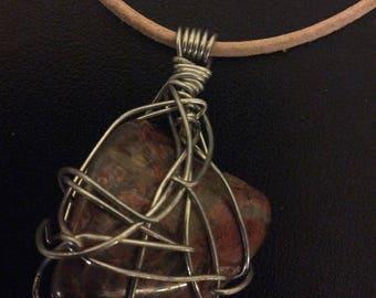 Tumbled stone pendant