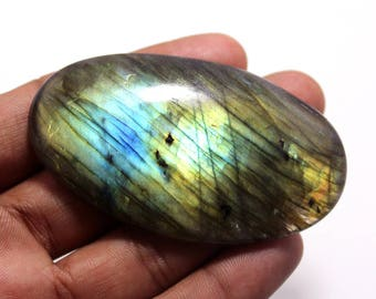 203.20Cts Natural Multi Flash Labradorite Oval  70X40X9 mm Labradorite Loose Gemstone Amazing & Beautifull Labradorite Nice Flash AA-98