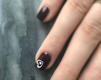 Nail Decals-Heart Nail Decals- Valentine's Day Nail Decals- Nail Art- Vinyl Nail Art- Vinyl Nail Decals