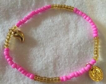 Two-color handmade basin bracelet