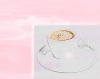 Invitation cards for coffee and cakes, 10 pieces in DINA6