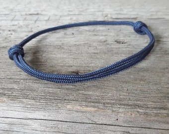 Paracord Bracelet, Navy Blue Bracelet, Man Bracelet, Homme Bracelet, Mens Bracelet, Simple Knot Bracelet, Pulsera Hombre, Surf Bracelet Mens